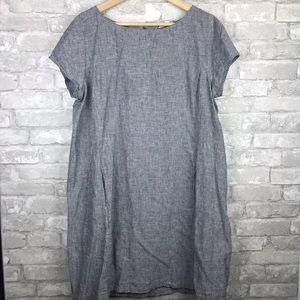 Eileen Fisher   Chambray Organic Cotton Dress